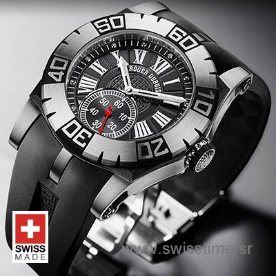 Roger Dubuis Easy Diver Roman Black Dial | Swiss Time Watch