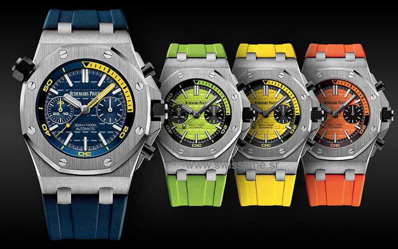 Audemars Piguet Diver chronograph color swiss Replica watches