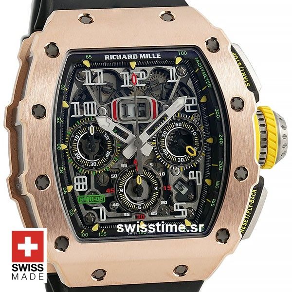 Richard Mille RM011 Lotus F1 Swiss Replica Watch | Swisstime