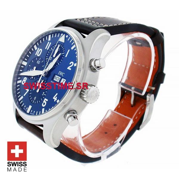IWC Pilot Chronograph Le Petit Prince Leather Strap | Swisstime