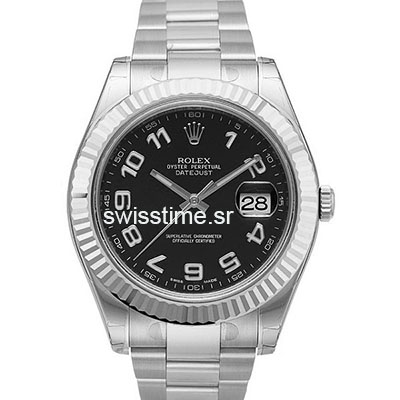 Rolex Datejust 2 | Rolex Black Arabic Dial Watch