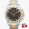 rolex daytona 2tone black diamond dial swiss replica 116503