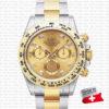 rolex daytona 2tone diamond gold dial swiss replica