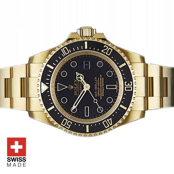 Rolex Sea Dweller Deepsea Pure 18k Yellow gold Replica Watch