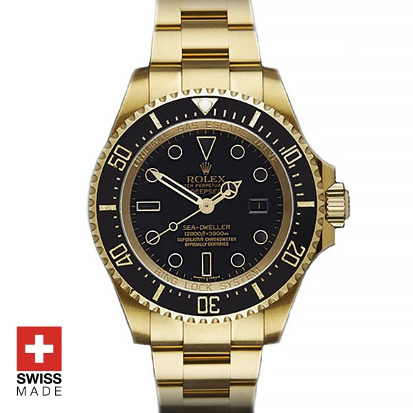 Rolex Sea Dweller Deepsea Pure 18k Yellow gold Replica Watch