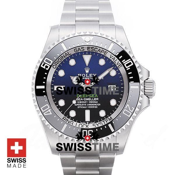 rolex deepsea d-blue 126660 swiss made replica