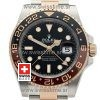 SWISSTIME ROLEX GMT MASTER II 18K ROSE GOLD 2-TONE OYSTER CERAMIC BEZEL BLACK DIAL 126711CHNR 40MM 3