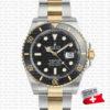 rolex submariner 2tone black swiss replica