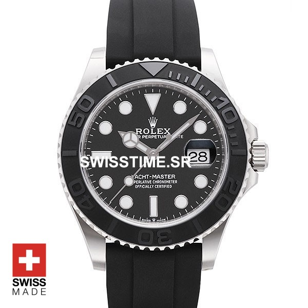 Rolex Yacht Master Rubber Strap White Gold | Swisstime Watch