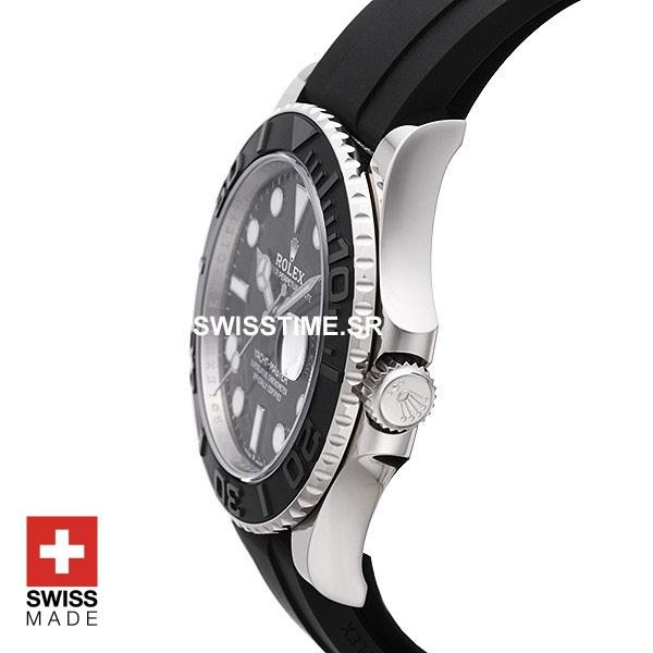 Rolex Yacht Master Rubber Strap White Gold   Swisstime Watch