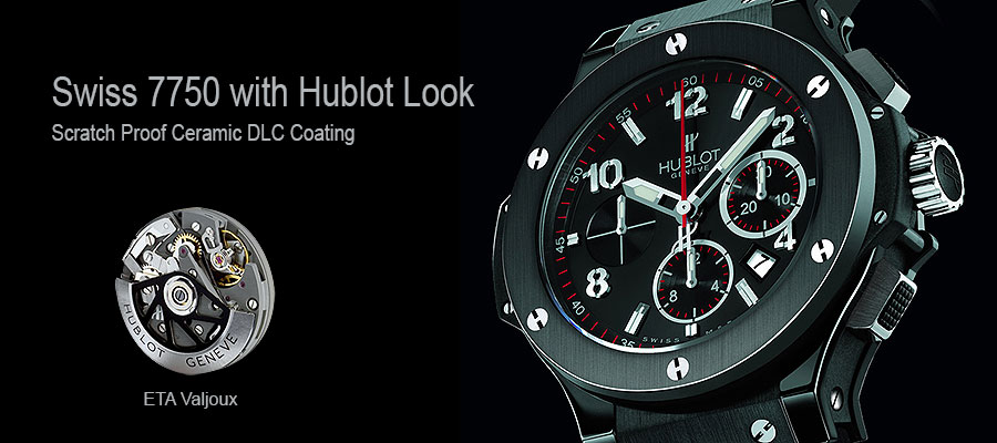Scratch Proof Ceramic hublot Replica Watch