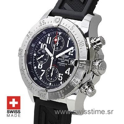 Breitling Super Avenger 2 Rubber Strap   Swiss Replica Watch