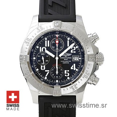 Breitling Super Avenger 2 Rubber Strap | Swiss Replica Watch