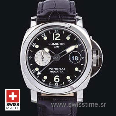 Panerai Luminor GMT Regatta Black Dail | Swisstime Replica