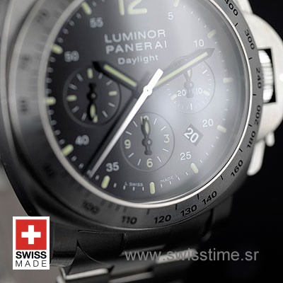 Panerai Luminor Daylight Chronograph | Steel Replica Watch