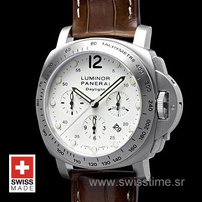 Panerai Luminor Daylight Chronograph White Dial | Swisstime