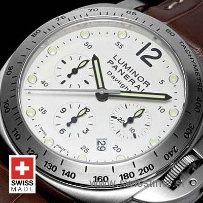 Panerai Luminor Daylight Chronograph White Dial | Swisstime