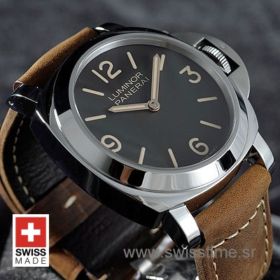 Panerai Luminor Base | Brown Leather Strap | Swiss Time Watch
