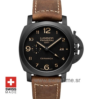 Panerai Luminor 1950 3 Days GMT Automatic Ceramica 44mm PAM441 Swiss Replica