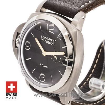 Panerai Luminor 1950 Left-Handed 8 Days Titanium 47mm PAM368 Swiss Replica
