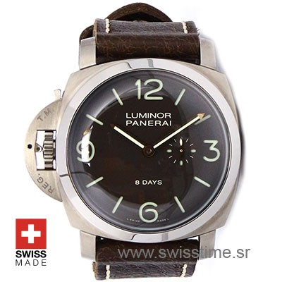 Panerai Luminor 1950 Left-Handed 8 Days Titanium 47mm PAM368 Swiss Replica