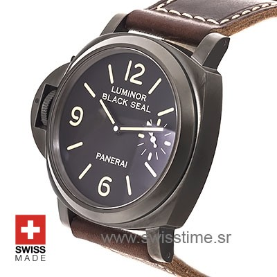 Panerai Luminor DLC Black Seal | Left-Handed Replica Watch