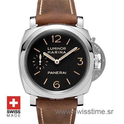 Panerai Luminor Marina 1950 Acciaio Brown Strap | Swisstime