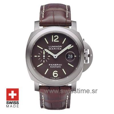 Panerai Luminor Marina Automatic | Leather Strap Replica Watch