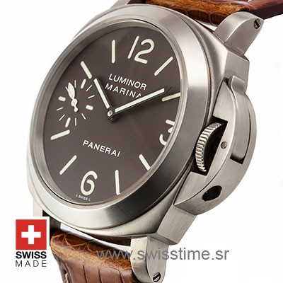 Panerai Luminor Marina Titanium Manual Wind 44mm PAM061 Swiss Replica