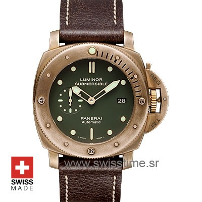 Panerai Luminor Submersible Bronzo Green Dial | Replica Watch