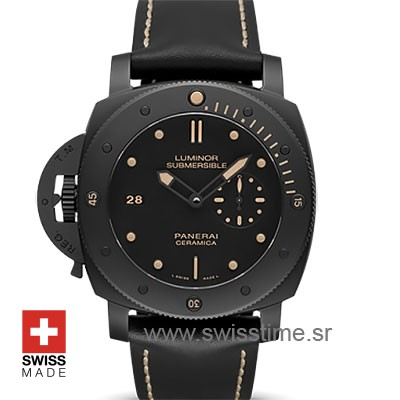 Panerai Luminor Submersible 1950 3 Days Ceramica Left-Handed 47mm PAM607 Swiss Replica