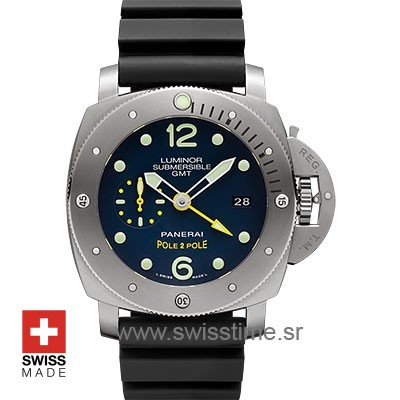 Panerai Luminor Submersible 1950 3 Days GMT Automatic Titanium Pole2Pole 47mm PAM719 Swiss Replica