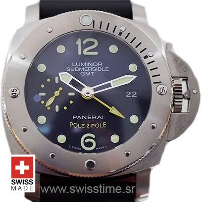 Panerai Luminor Submersible 1950 3 Days GMT Automatic Titanium Pole2Pole 47mm PAM719 Swiss Replica