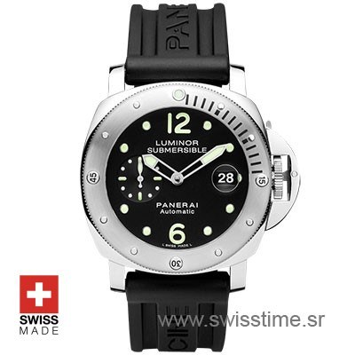 Panerai Luminor Submersible Automatic Acciaio 44mm PAM024 Swiss Replica