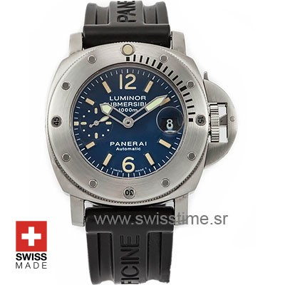 Panerai Luminor Submersible Blue Dial 1000m PAM087 Swiss Replica