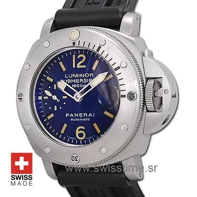 Panerai Luminor Submersible Blue Dial 1000m PAM087 Swiss Replica