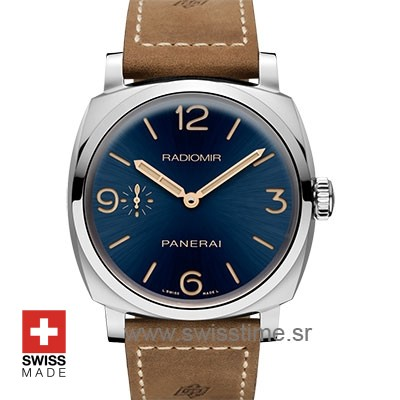 Panerai Radiomir 3 Days Acciaio Blue Dial Swiss Replica Watch