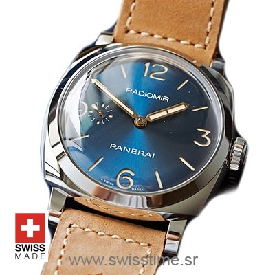 Panerai Radiomir 1940 3 Days Acciaio Blue Dial 47mm PAM690 Swiss Replica