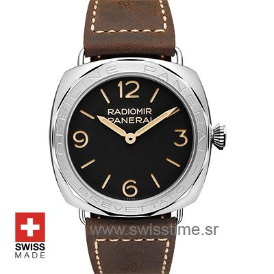 Officine Panerai Brevettato 47mm | Black Dial Replica Watch