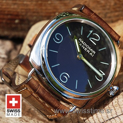 Panerai Radiomir Base Manual Wind 45mm Pam 210 Gold Hands Swisstime