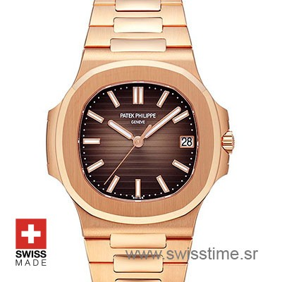 Patek Philippe Nautilus Chocolate 18k Rose Gold 40m