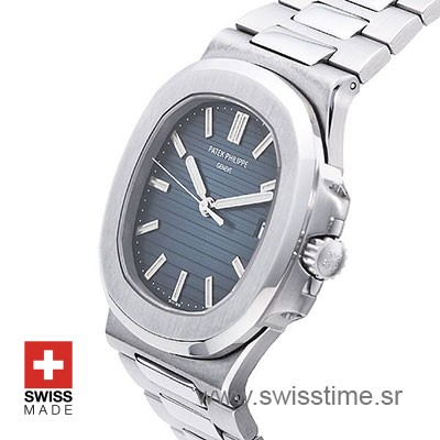Patek Philippe Stainless Steel Nautilus Blue Dial 40mm