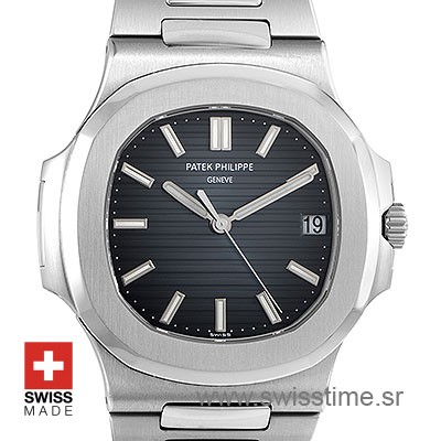 Patek Philippe Stainless Steel Nautilus Black Dial 40mm
