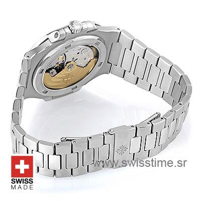 Patek Philippe Stainless Steel Nautilus White Dial Replica Watch