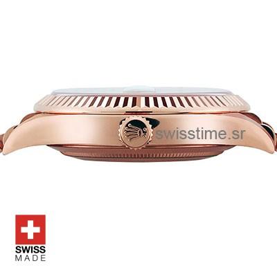 Rolex Day-Date 40 Rose Gold Chocolate Dial   Replica Watch