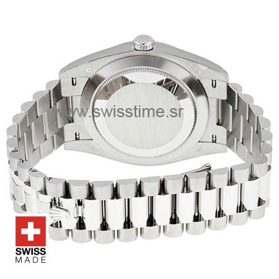 Rolex Day-Date 40 White Gold Swiss Replica Watch 40mm