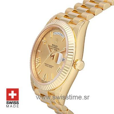 Rolex Day-Date 40 Yellow Gold Gold Roman 40mm Swiss Replica