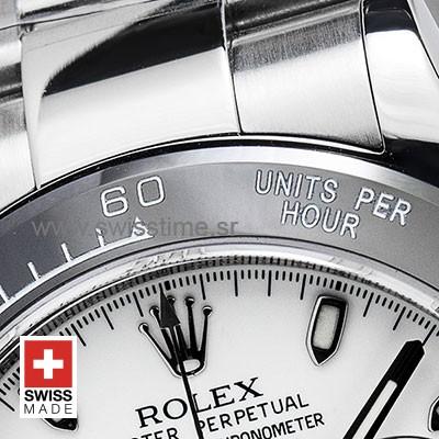 Rolex Daytona Ceramic Bezel   White Dial Swiss Replica Watch
