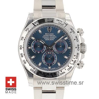 Rolex Daytona White Gold Blue Dial | Swisstime Replica Watch