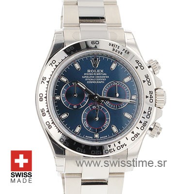 Rolex Daytona 2016 White Gold Blue 40mm-3255